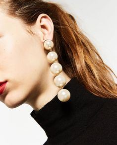 DANGLING PEARL EARRINGS-Jewellery-ACCESSORIES-WOMAN | ZARA United States