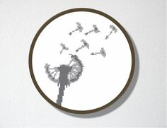 Dandelion Counted Cross stitch Pattern PDF.