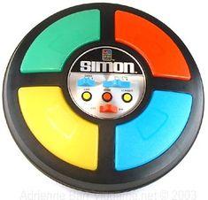 Simon es un juego electrónico creado por Ralph Baer en 1978. Tuvo un gran éxito durante los 80. Tiene forma de disco, en una de sus caras se puede ver cuatro cuadrantes, cada uno con un color: verde, rojo, azul y amarillo en su versión original. Su nombre se debe por el conocido juego tradicional del mismo nombre: Simón dice, de donde se inspira.