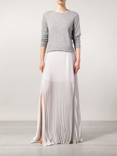 Brunello Cucinelli Pleated Maxi Skirt - Spinnaker 101 - Farfetch.com