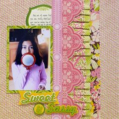 Scrapbook Layout using @Anna Griffin, Inc. Scrapbook.com: The Carmen Collection