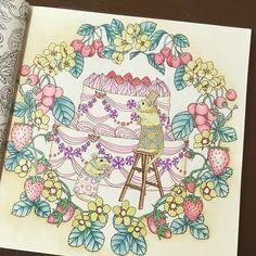 Instagram media tomorin0303 - 色鉛筆とジェルボールペンで  ぬりぬりぬりぬり… ・ ・ ・ #おとなのぬりえ #大人の塗り絵 #おとなの塗り絵 #森が奏でるラプソディ #色鉛筆 #コロリアージュ #coloriage #coloring