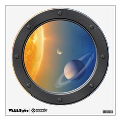 #NASA Solar System Space Collage Porthole View Wall Decal - #travel #trip #journey #tour #voyage #vacationtrip #vaction #traveling #travelling #gifts #giftideas #idea