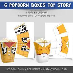 6 miniPopcorn Box Toy Story por Migueluche en Etsy