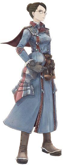 Eleanor Varrot from Valkyria Chronicles, by Honjou Raita.