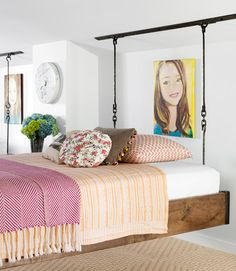 Check out these amazing hanging beds in @Ree Drummond | The Pioneer Woman 's girls' bedroom.