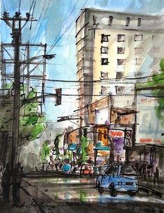 Urban Sketchers: Loose Paper Sketching , The scenes of Semarang