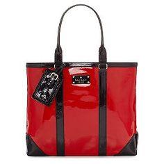 I love big purses and shiny purses.  This has both