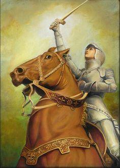 Jeanne d'Arc la Pucelle d'Orléans 5 x 7 cartes de par EmilyBalivet