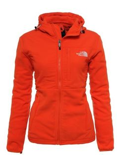Womens The North Face Denali Fleece Hoodie Spicy Orange