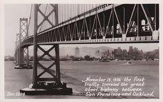 Vintage Postcard San Francisco bridge