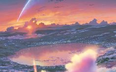 Anime Your Name. Kimi No Na Wa. Fondo de Pantalla