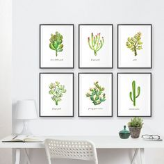 Cactus art print • Botanical painting • Southwest art wall decor  This is an art print of my original watercolor painting - Prickly pear cactus. This