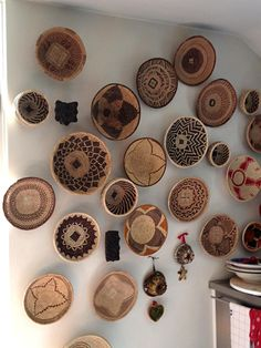 Caroline in the Netherlands just sent us this picture showing how she used her Baskets of Africa displayed on a wall in her kitchen.