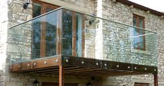Steel & glass balcony in Foulridge - Carter Fabrications