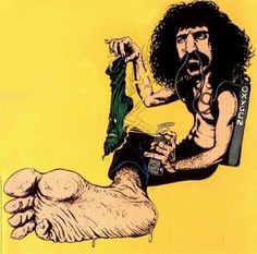 """The strange French comic featured in this post based on Frank Zappa's song """"Stink-Foot"""" from his 1974 album, Apostrophe (') was done by French illustrator Jean Solé back in 1975 when appeared in the French satire magazine Fluide Glacial in a special comic layout called Pop & Rock & Colegram."""