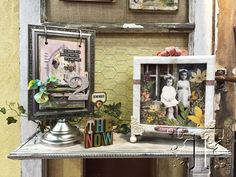 Love the picture frame with the flip pages...all courtesy of tim holtz.  Awesomeness, as usual!