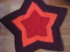 crochet star blanket pattern (modified to eliminate holes)
