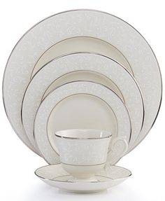 Dinnerware Sets and Fine China - Macy's Fine China Dinnerware, Dinnerware Sets, China Sets, China Patterns, Place Settings, Table Settings, Bone China, Tableware, Pearl