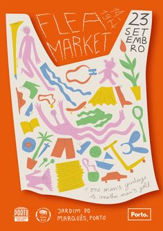 Poster of the flea market Poster Layout, Dm Poster, Sale Poster, Typography Poster, Graphic Design Posters, Graphic Design Typography, Graphic Design Inspiration, Branding Design, Kids Graphic Design