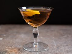 Martinez coctail: Grandfather to the modern martini, the Martinez is a drink of gin (Old Tom, if you can; try Ransom or Hayman's), sweet vermouth, maraschino or curaçao, and bitters. It's a sweeter drink than the typical dry martini, but the flavor is complex and refreshing.