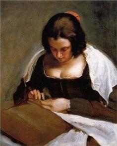 The Needlewoman - Diego Velazquez 1643 http://en.wikipedia.org/wiki/The_Needlewoman (Thx Ivana)
