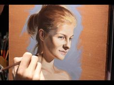 Time lapse Oil Painting Portrait - step by step portrait study with varying oil painting techniques - YouTube