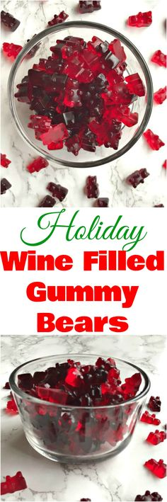 Holiday wine filled gummy gummies
