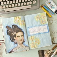 Glittering Eyes Art Journal Page | Free Project from The Studio