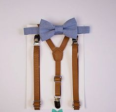 Hey, I found this really awesome Etsy listing at https://www.etsy.com/listing/269449330/boys-dusty-blue-bow-tie-tan-leather