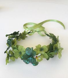 St. Patrick's Day Flower Crown Shamrock Flower by FlowerHungry