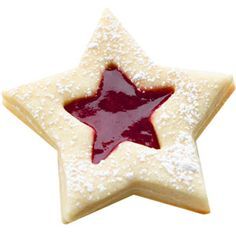 Shining Star Sandwich Cookies, cute for American girl party! Easy Holiday Cookies, Easy Christmas Cookie Recipes, Christmas Cookie Exchange, Christmas Sweets, Holiday Treats, Christmas Cookies, Christmas Stars, Christmas Crafts, Jelly Cookies