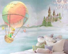 """Tinkerbell wallpainting by SiPi-Design Muurschilderingen  """"Je favoriete figuurtje, een eigen ontwerp, een realistisch landschap, alles is mogelijk !  Kijk op onze website voor meer informatie en inspiratie.  In onze plaatjesbibliotheek vind je vele afbeeldingen.  We komen eventueel vrijblijvend langs om de mogelijkheden te bespreken.  Of bel naar 06 51 55 38 30  Frank en Esther Simons sipi-designmuurschilderingen"""""""