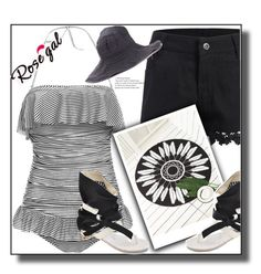 """""""Win $20 Cash from Rosegal!"""" by jelena-880 on Polyvore featuring moda, vintage, blackandwhite, sumer i rosegal"""