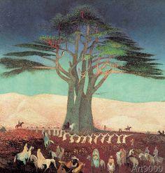 Tivadar Csontváry Kosztka - Pilberfahrt zu den Zedern des Libanon