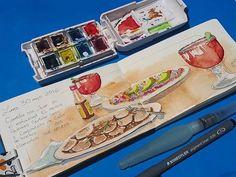 Lidia Barragán. #sketch #food #dibujo #cuaderno #sketchbook #moleskine #urbansketch #watercolor
