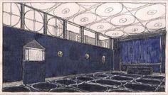 Entwurf für den Musik-Theatersaal im Palais Stoclet 1905/06