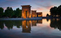 templo de debod entrada