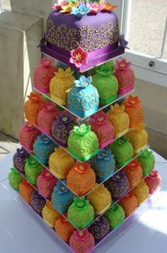 Colorful Wedding Cakes - Cupcakes