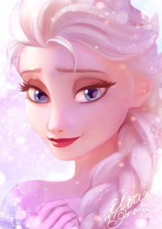 Elsa the sparkling Snow Queen Anna Y Elsa, Frozen Elsa And Anna, Disney Frozen, Disney Magic, Disney Kunst, Arte Disney, Disney Fan Art, Frozen Drawings, Disney Drawings