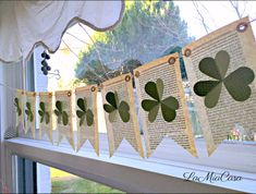 St Patricks Day decor, St patricks day banner, St patricks day garland, St Patricks day wreath, Shamrock, Irish gifts, St Patricks decor St. Patricks Day decoration! Vintage book pages, adorably touched by time. Embossed card stock cut into the shape of shamrock. Unique. Beautiful.