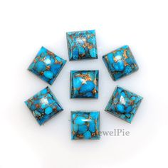Copper Turquoise Square Loose Gemstones   #cabochons #gemstones #loosecabochon #etsy #onlineshopping