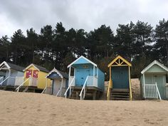 Beach huts at Wells-next-the-Sea, Norfolk - inspiration for the book's setting