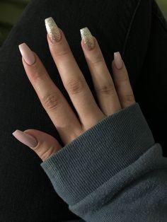 Cute Nail Designs, Acrylic Nail Designs, Acrylic Nails, Hair And Nails, My Nails, Coffin Nails, Cute Nails, Claws, Nail Ideas