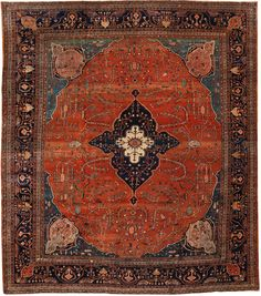 View this beautiful fine antique Persian Sarouk Farahan rug from Nazmiyal's fine antique rugs and decorative carpet collection. Persian Carpet, Persian Rug, Iranian Rugs, Interior Rugs, Magic Carpet, Woven Rug, Tribal Rug, Textiles, Floor Rugs