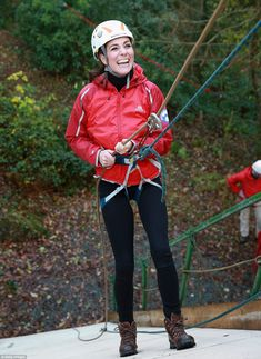 The Duchess of Cambridge showed her athletic side as she abseiled on a visit to the Towers Residential Outdoor Education Centre in Capel Curig, North Wales. The Towers is an outdoor education centre run by Wolverhampton Council providing adventure activities for children - and Kate certainly got stuck in