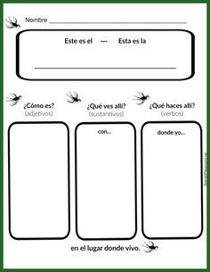 Kids practice Spanish places vocabulary with this graphic organizer.