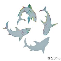 Magic Color Scratch Sharks Craft - 24 Pk Party Supplies Canada - Open A Party