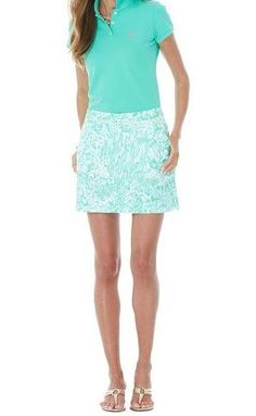 Lilly Pulitzer Resort '13- Cleona Skort in White Bungle in the Jungle