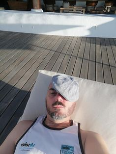 Resting up before the gig tonight on Denis Island with Ultimate Rock Productions.